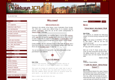 Selwyn JCR Website